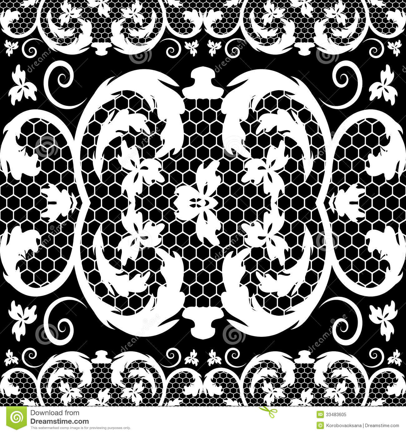 Vintage Lace Vector Free