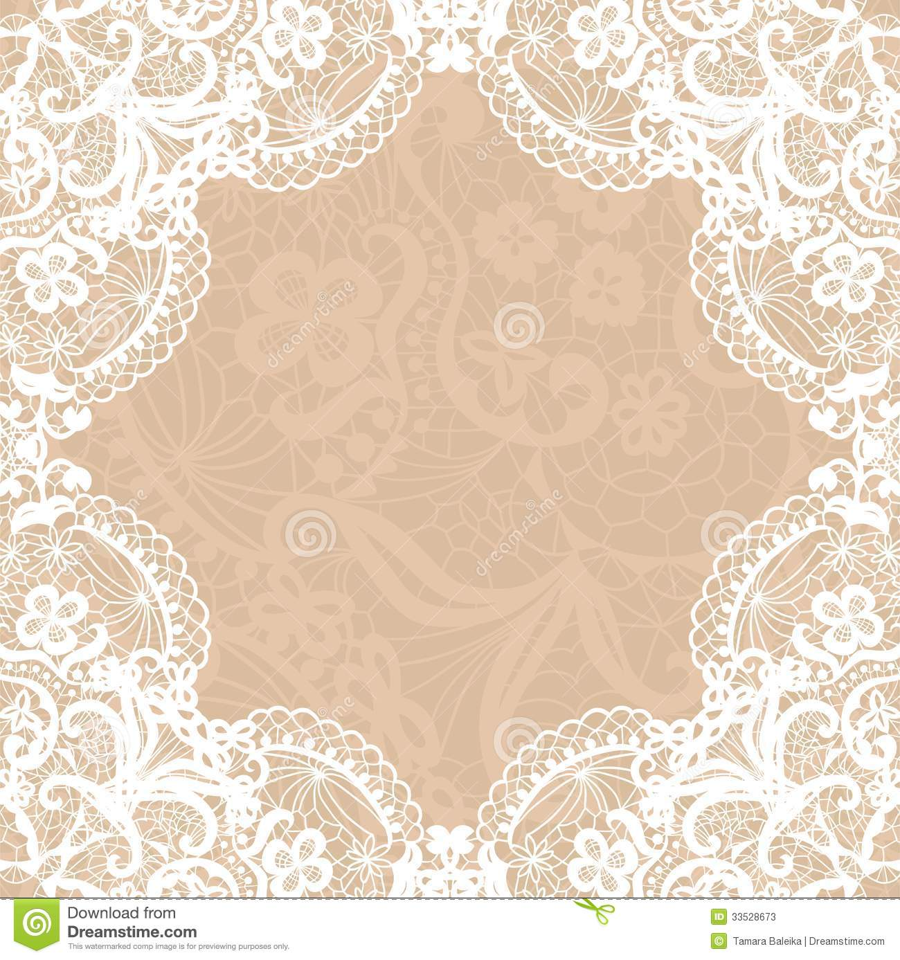 Vintage Lace Wedding Invitation Templates