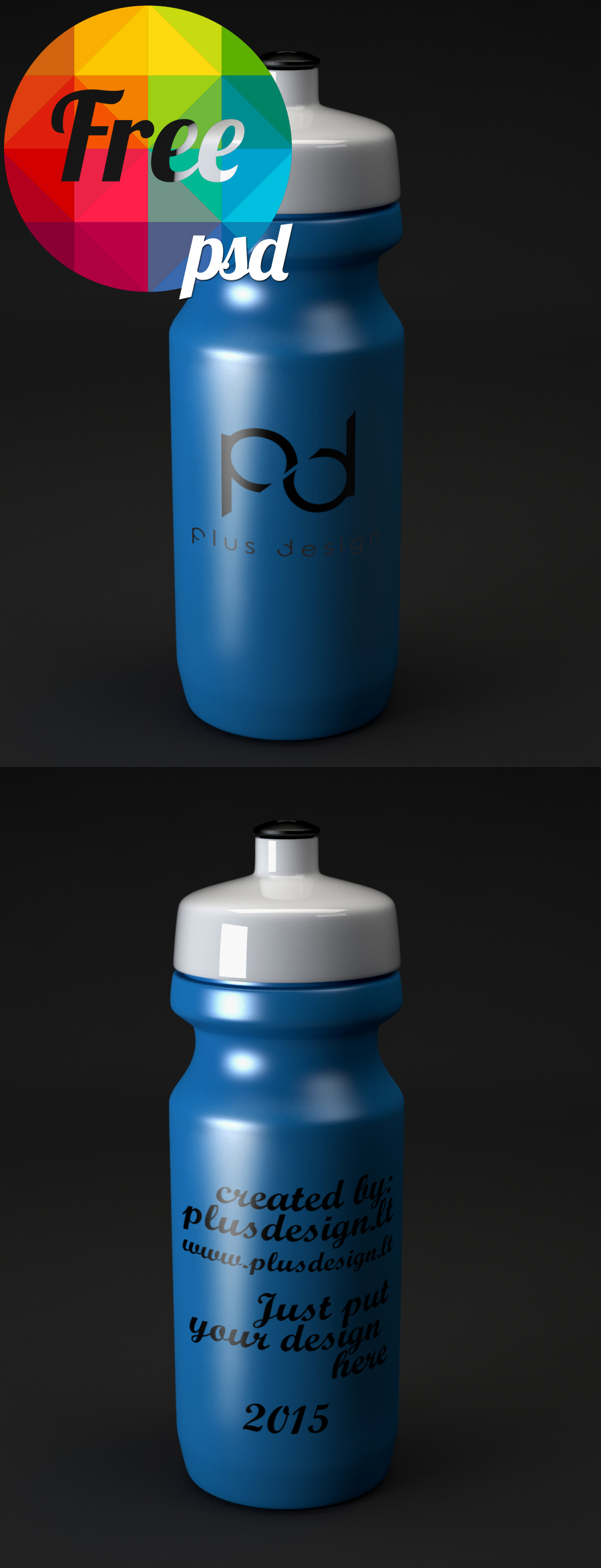 Water Bottle Mockup Template Free