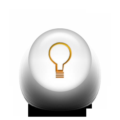 12 Light Bulb Icon White Images