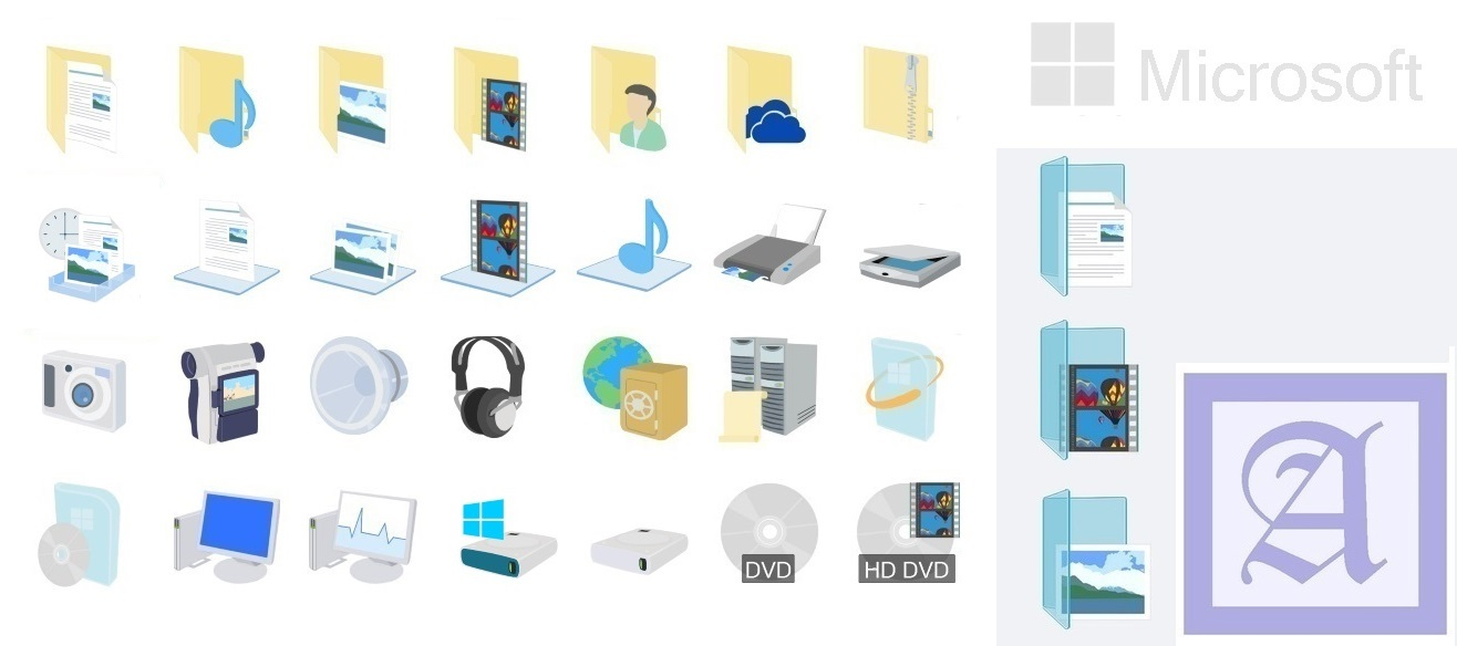 17 Windows 8.1 Folder Icons Images