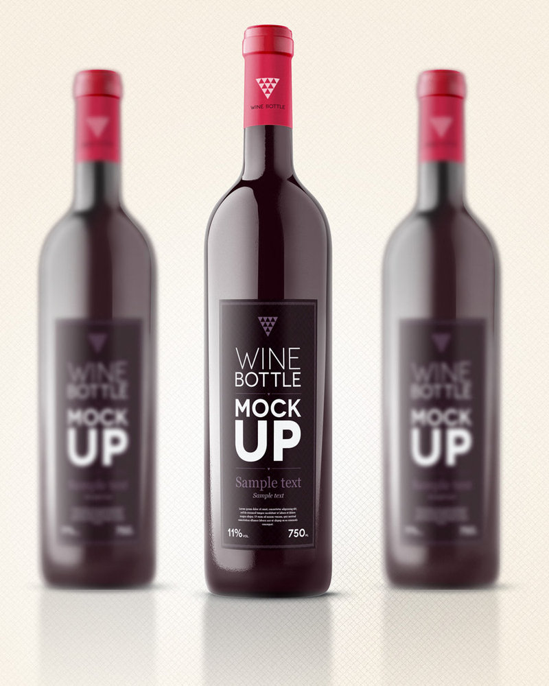 12 Bottle Mockup Psd Free Images