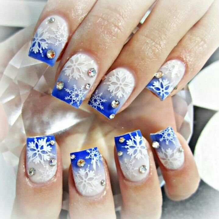 15 Acrylic Winter Nail Designs Images