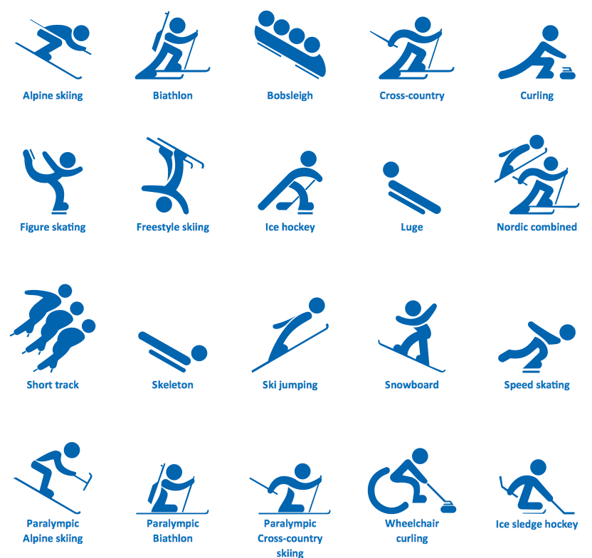 16 For Winter Olympics Icons Images