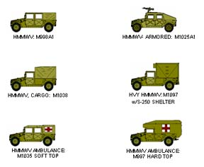 10 Military Vehicle Icons Clip Art Images