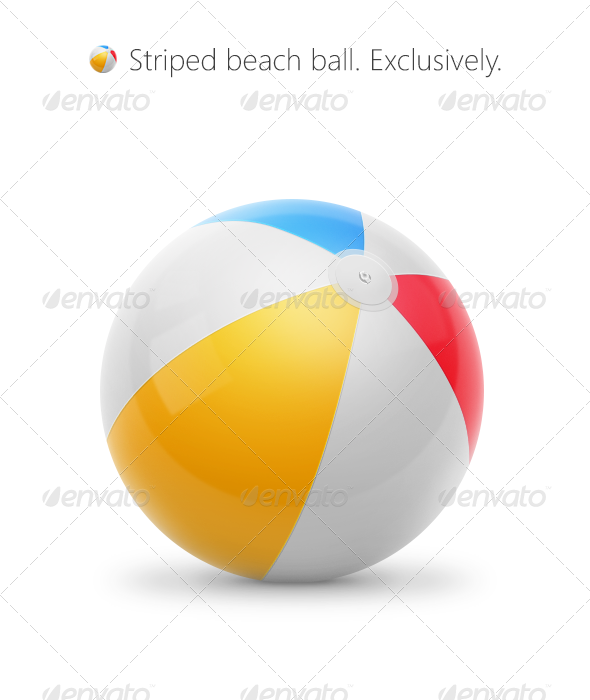 7 PSD Beach Ball Swim Images
