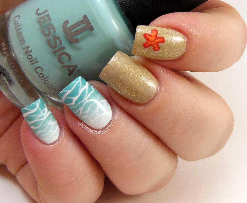 Beach Nail Designs Pinterest