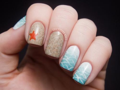 Beach Theme Nail Designs