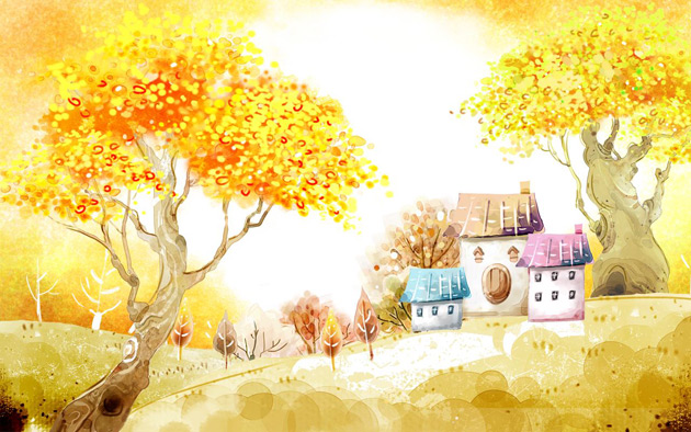 Beautiful Autumn Illustrations