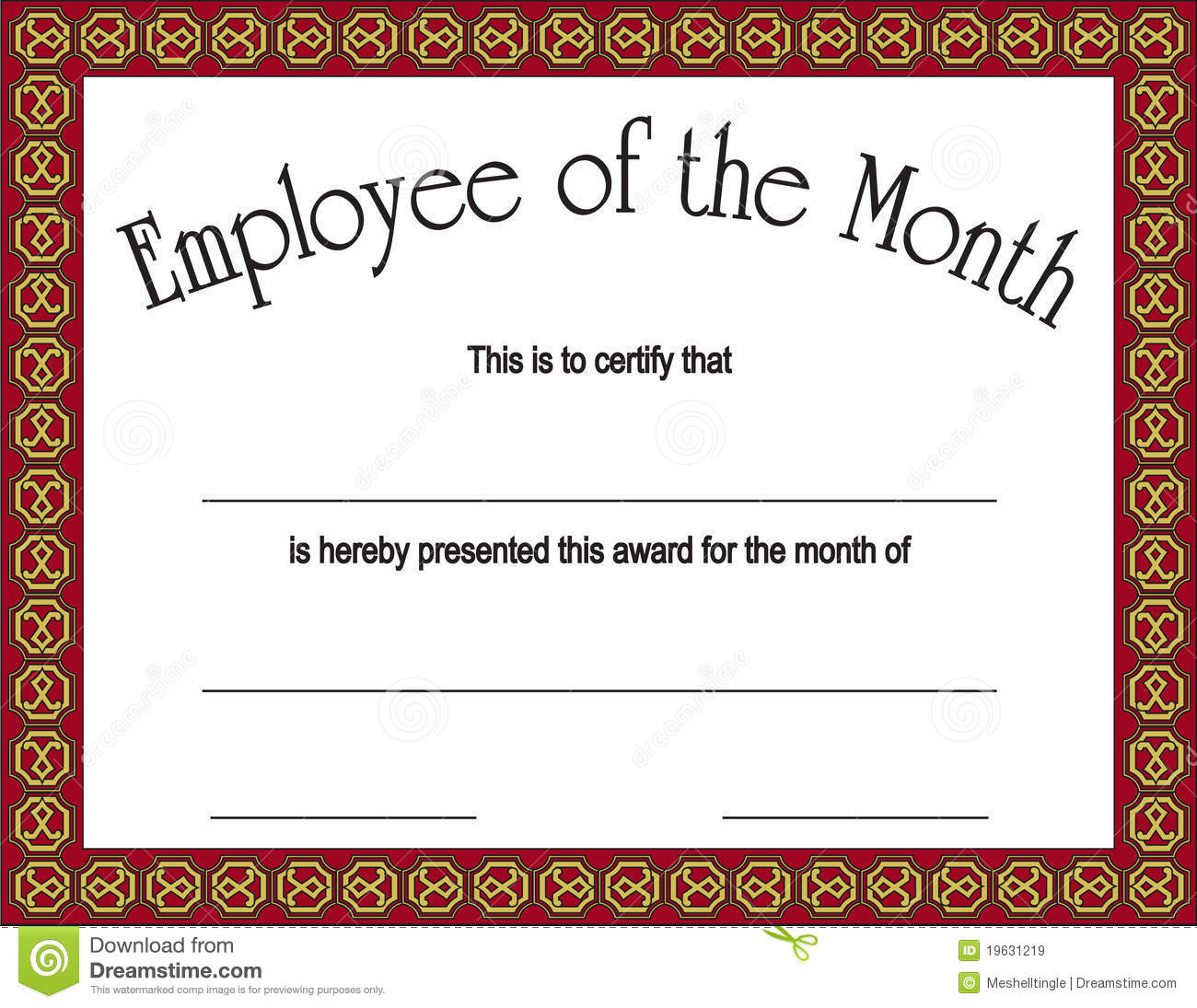 Free Employee Of The Month Certificate Template social media ...