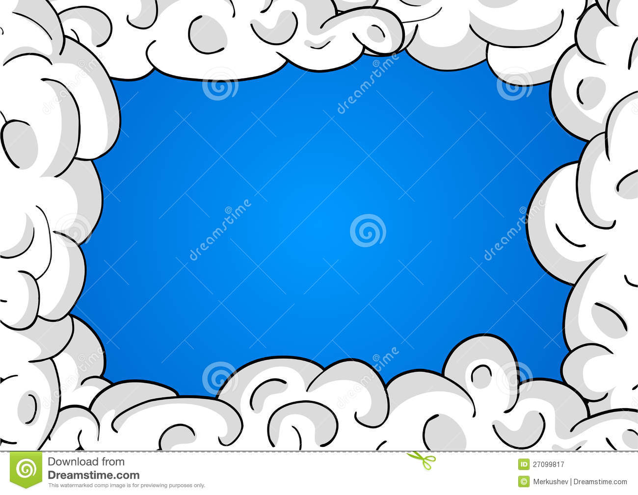 Blue Sky Cloud Picture Frames