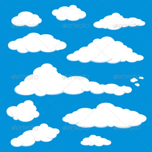 Blue Sky Clouds Cartoon
