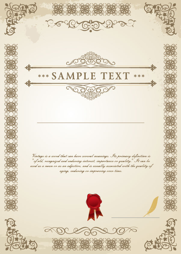 14 Certificate Design Templates Images - Recognition ...