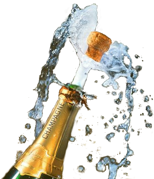 6 Champagne Bottle Popping PSD Images