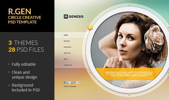 Circle Banner Photoshop Design