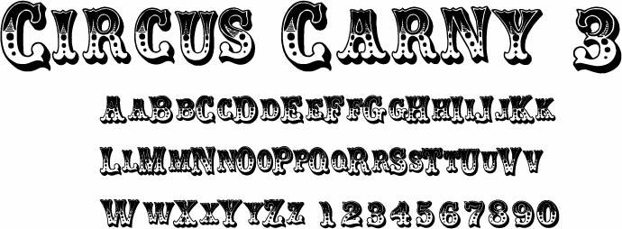 Circus Fonts