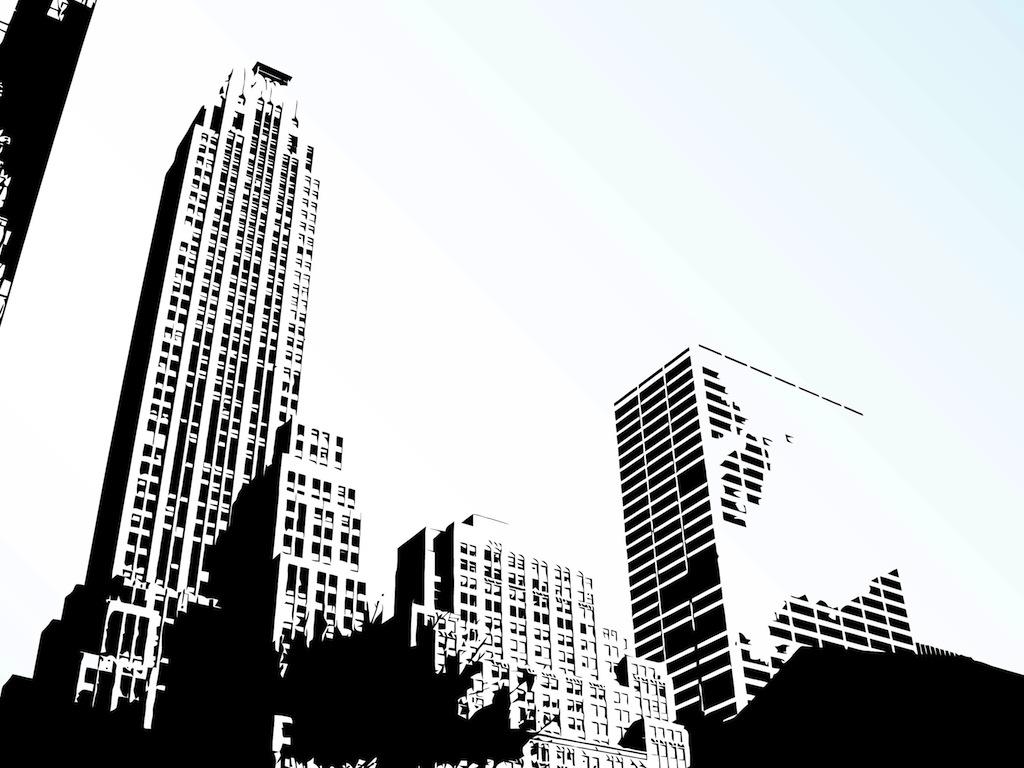 17 Vector City Skyline Clip Art Images