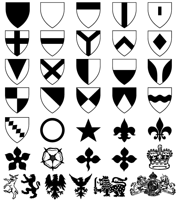 Coat of Arms Shield Shapes