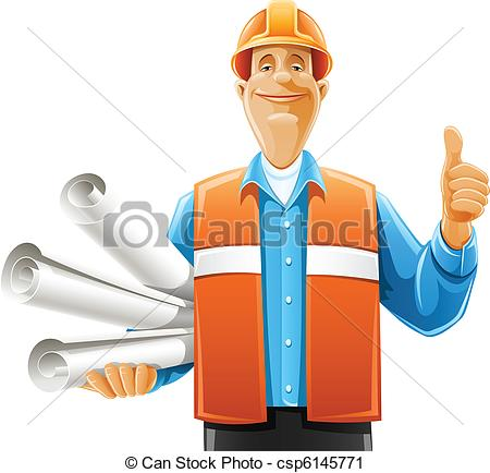 Construction Project Manager Clip Art