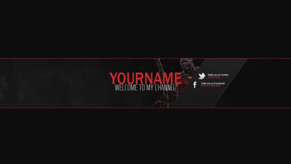 14 YouTube Banner PSD Customizable Images - YouTube Banner ...