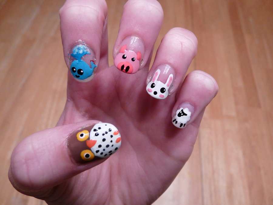 9 Cute Animal Nail Designs Images