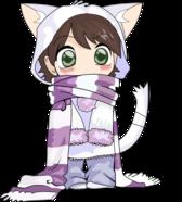 Cute Anime Chibi Neko