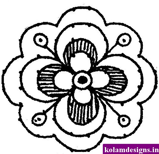 cute flower designs to draw the image