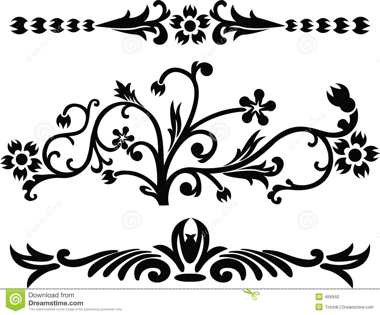 13 fancy scroll vector images free vector scroll swirl for Decorative scrollwork
