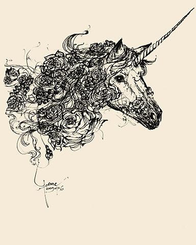 Drawing Unicorn Tattoo
