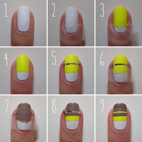 17 Easy Step By Step Nail Designs With Tape Images