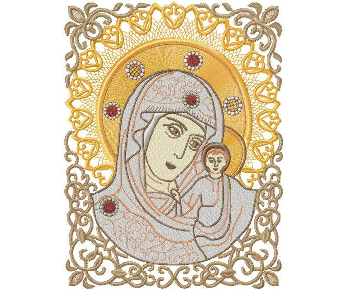 Religious icon patterns images easter