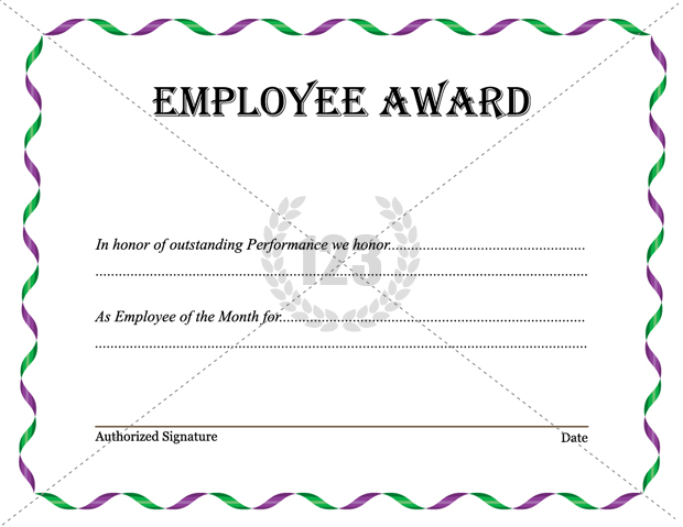 Employee Certificate Templates Free 17 Employee Award Icon Images Employee Of The Month Award Certificate Template Trophies And