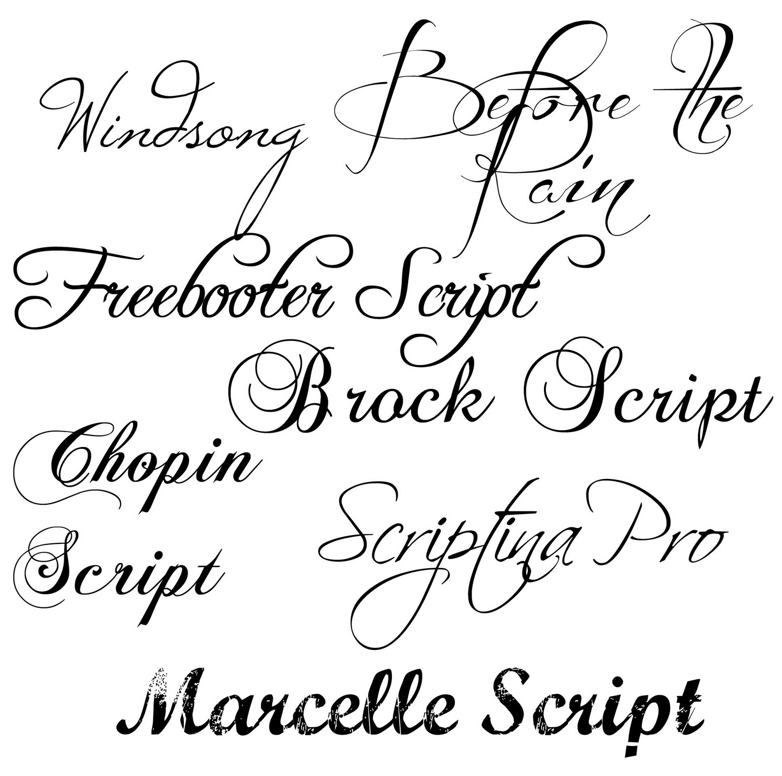 12 Fancy HTML Fonts Images