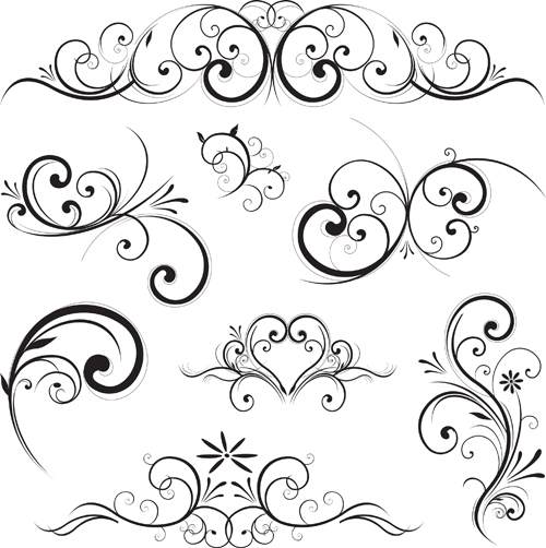 Fancy Swirl Design Vector Free