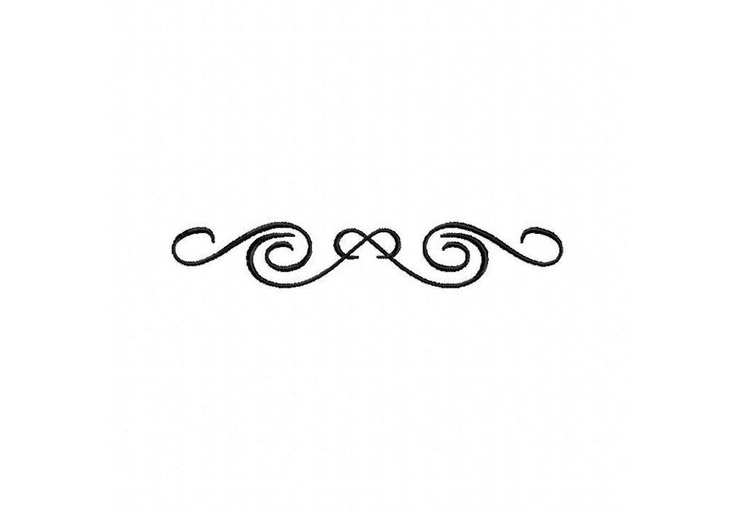 Fancy Swirls Border Clip Art