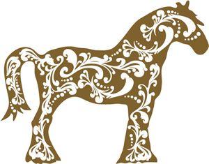 Flourish Horse Silhouette