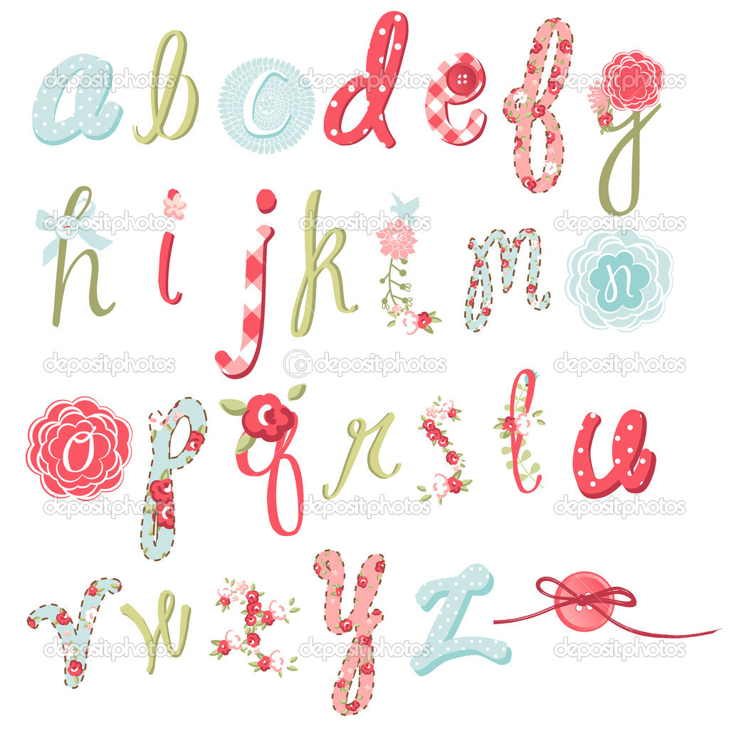 Flower Font Letters  Flowers Healthy