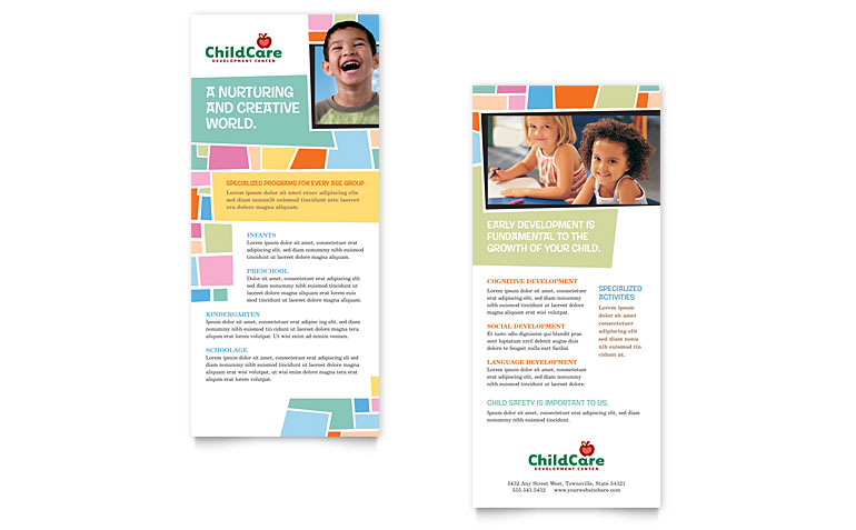 Flyer Design Templates for Day Care