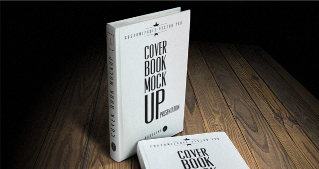12 Book Cover Mockup PSD Images