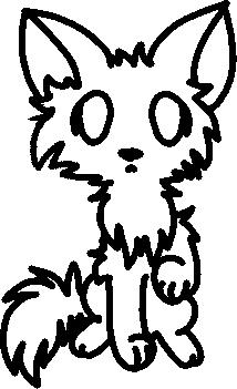 Free Chibi Cat Line Art
