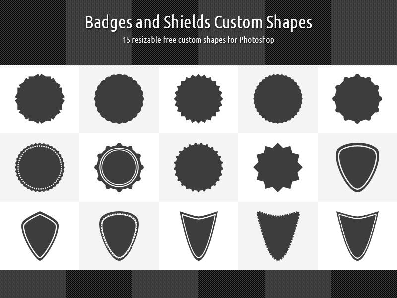 Free Photoshop Custom Shapes Shield