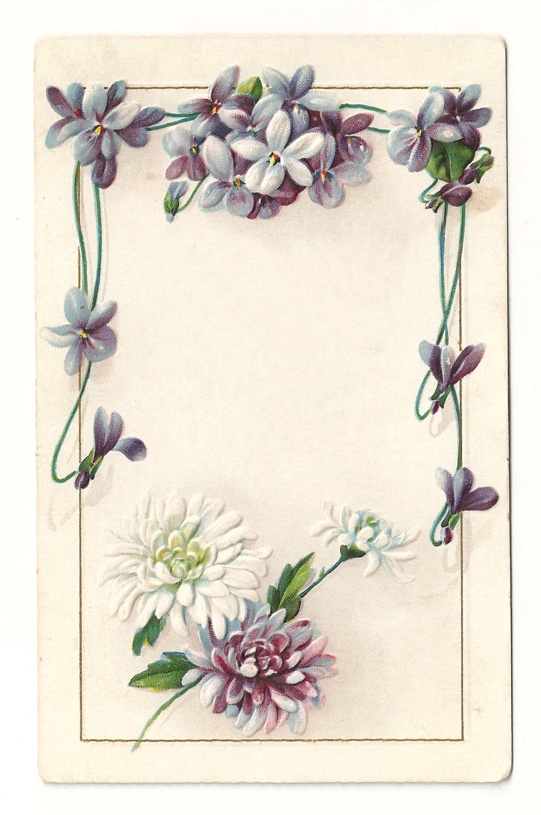 Free Printable Vintage Flower Borders and Frames