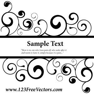 Free Swirl Banner Vector Graphics