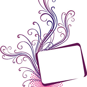 Free Swirly Vector Frame