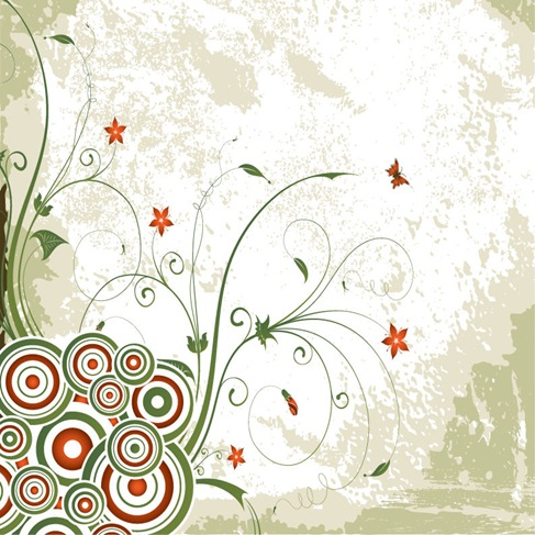 Free Vintage Vector Floral Swirl