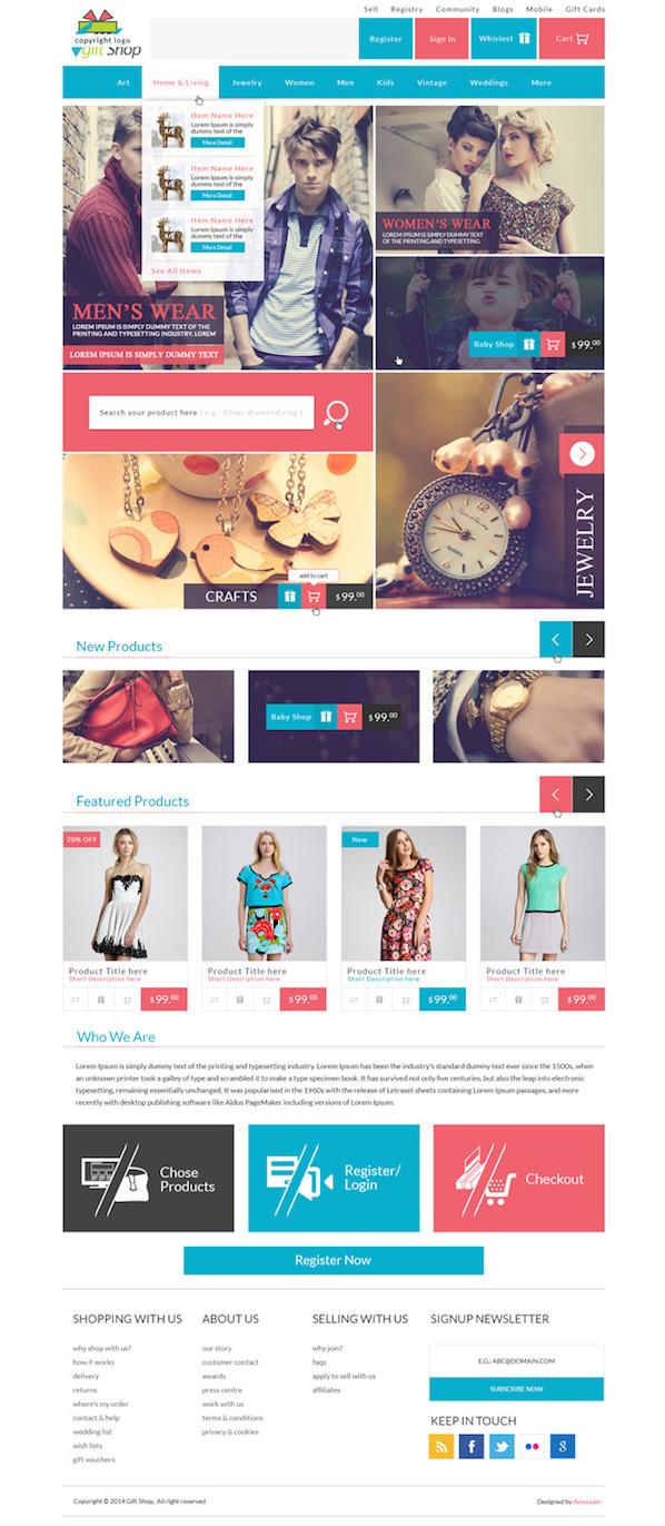 Gift Shop Web Design Templates
