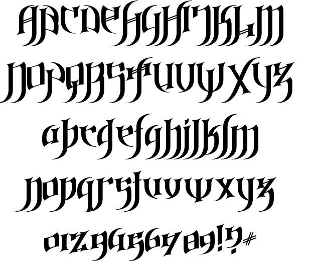7 Gothic Love Letters Font Images