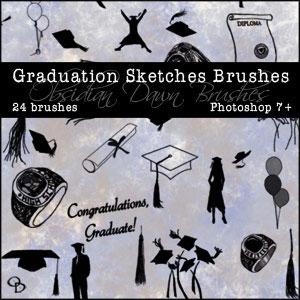 Graduation Photoshop Brushes