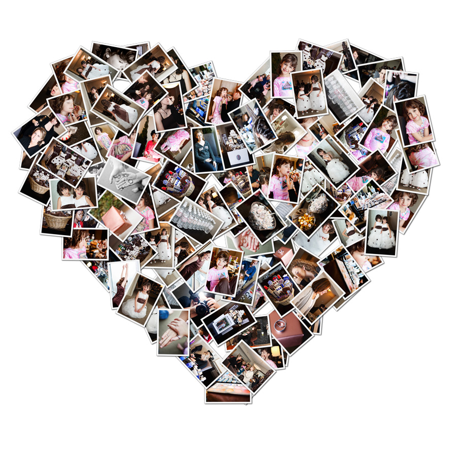 11 heart collage template psd images heart collage for Free collage templates