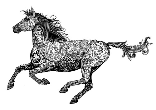 Horse Woodcut Illustrations
